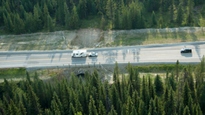 Wildlife underpass on Highway 93 South in Kootenay National Park
