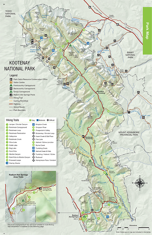 Maps Kootenay National Park