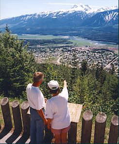 Revelstoke, as seen from Mount Revelstoke