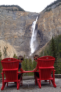red chairs yoho national park
