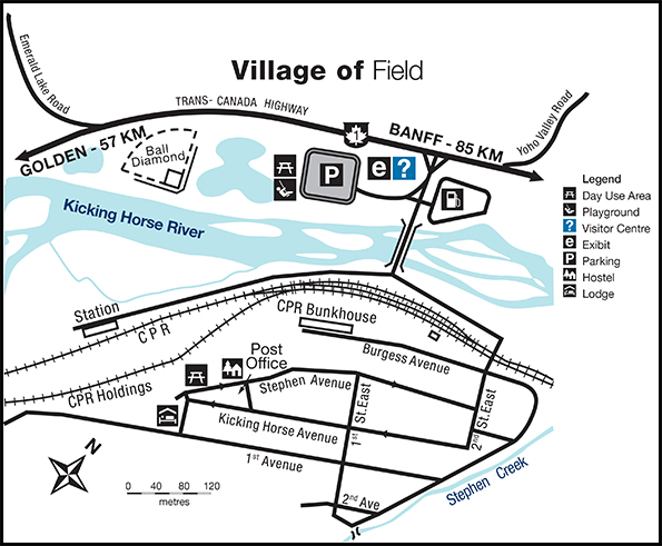 Map of the Village of Field, B.C.