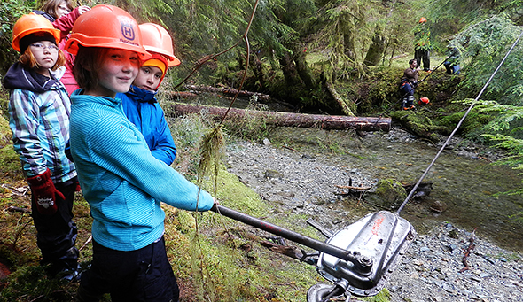 Future stewards learn about protecting the land and sae in Gwaii Haanas