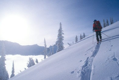 Skier on Mount Cheops