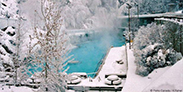 Radium Hot Springs pool in the winter