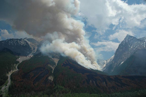 Smoke from a prescribed fire