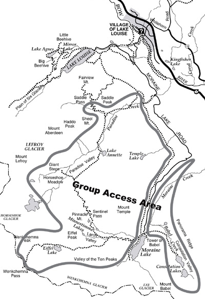 Group Access Area at Moraine Lake