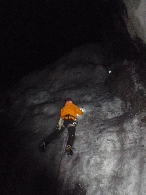 Canada Visitor Safety Specialists responding at night on the Weeping Wall.