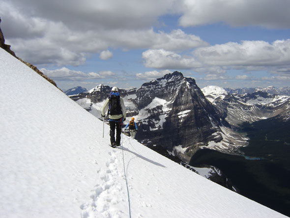 Mountaineers on Mount Huber, Yoho National Park