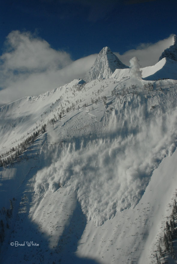 Avalanches are an ever present reality in the Mountain National Parks.