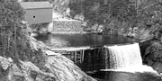 Archive image of the dam on the Point Wolfe River