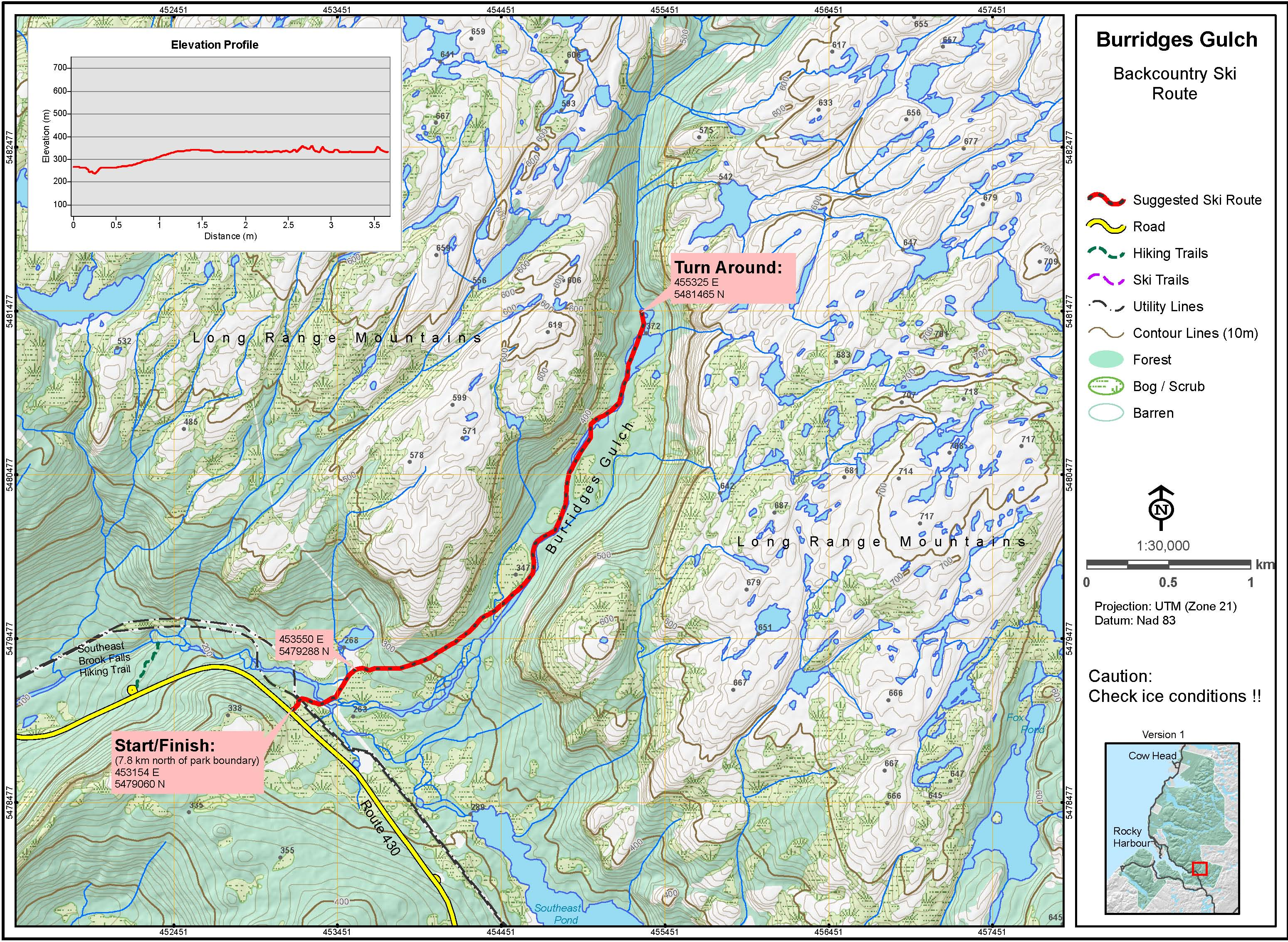 Burridges Gulch Map