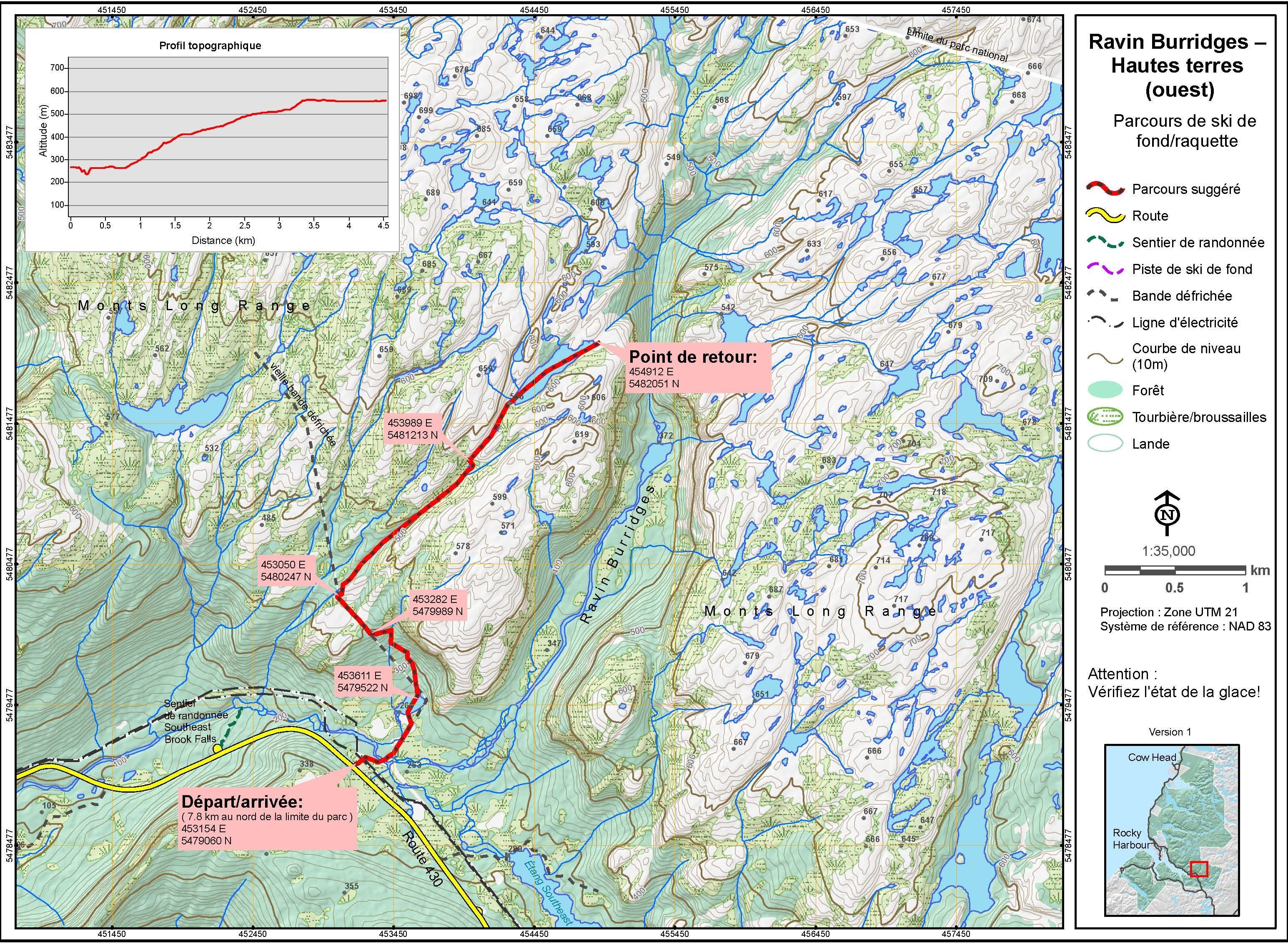 Burridges Gulch West Rim map
