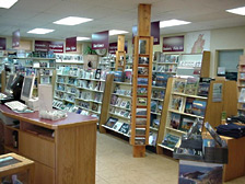 Inside the nature bookstore