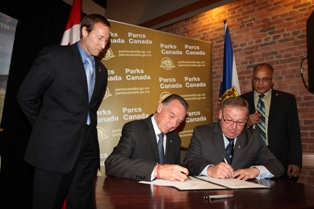Signing of the Agreement to Establish a National Park for Sable Island October 17, 2011.