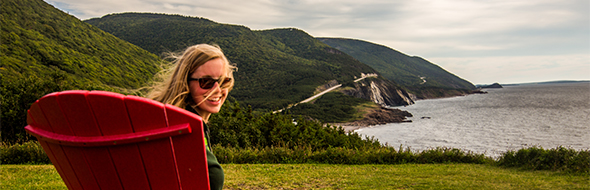 Red chair in Cape Breton Highlands National Park