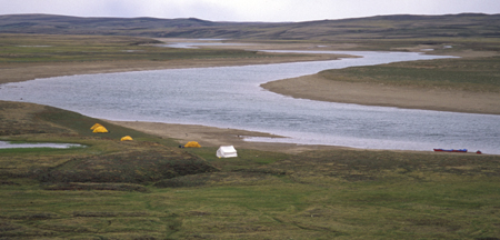 Camping along the Thomsen River