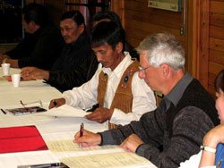 Signing of the Impact and Benefit Plan to expand Tuktut Nogait National Park of Canada.