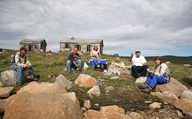 Picnic near Hudson Bay Post