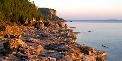 Halfway Rock Point (overlooking Georgian Bay) at daybreak