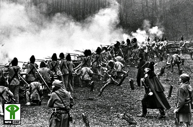 Image from the film: The Battle of the Châteauguay