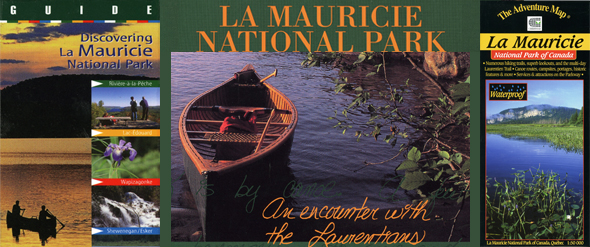 La Mauricie  National Park book, guide and map.