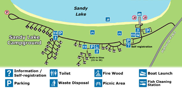 Sandy Lake Campground Map