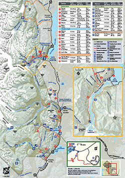 Map of trails and routes
