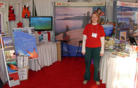 Parks Canada information booth at the Vancouver International Boat Show, 2009