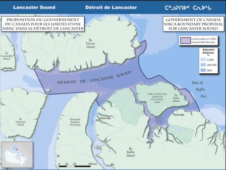 Map - boundary proposal for Lancaster Sound.