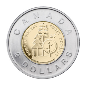 Two-Dollar Boreal Forest Coin
