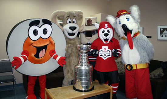 Boomer and friends with the Stanley Cup