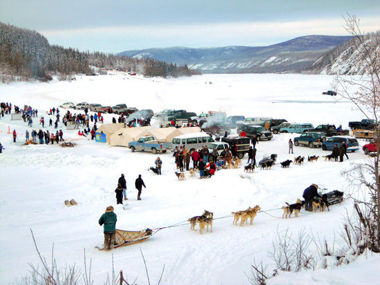 Hockey Day in Canada on the Dawson River