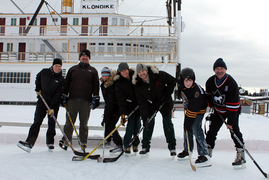 Fun on the ice at the S.S. Klondike National Historic Site