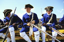 Young soldiers at Fortress-of-Louisbourg National Historic Site