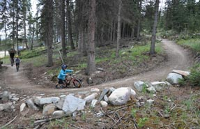 One can never be too young to try mountain biking in our national parks