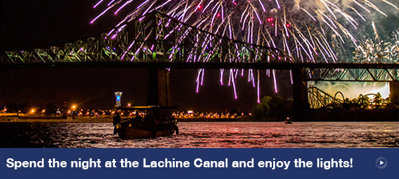 Spend the night at the Lachine Canal and enjoy the lights!