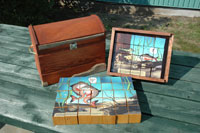 Educational materials created from salvaged wood