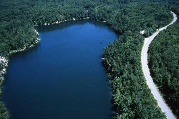 Restored Pink Lake and the Gatineau Parkway