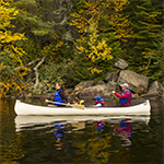 A family canoeing