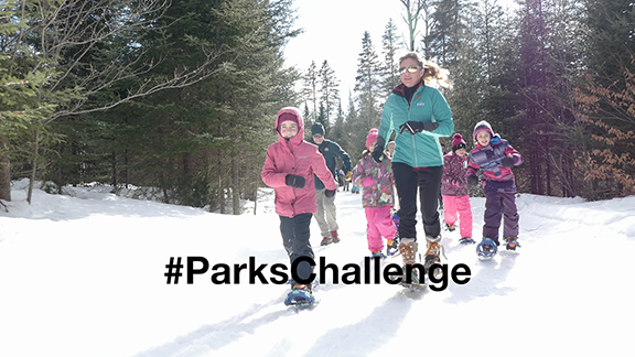 #ParksChallenge - Snowshoeing! - Every Thursday, Parks Canada will issue a new challenge on its social media accounts to celebrate Canada 150. These challenges may be physical, cultural, or even intellectual! Participating is easy: just snap a photo or video of you completing the challenge, post it to Facebook, Twitter or Instagram and make sure to tag #ParksChallenge. We will select the best entries each week and feature them on Parks' social media accounts!