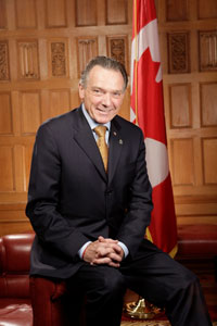 The Honourable Peter Kent, Canada's Environment Minister and Minister responsible for Parks Canada