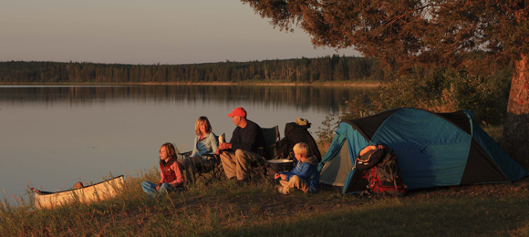 Camping at Prince Albert National Park