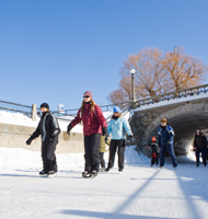 People skating on the Rideau Canal