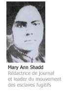 Photo de Mary Ann Shadd - Rédactrice de journal et leader de mouvement des esclaves fugitifs