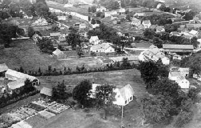 Vue aérienne de Williamstown, Ontario, 1920