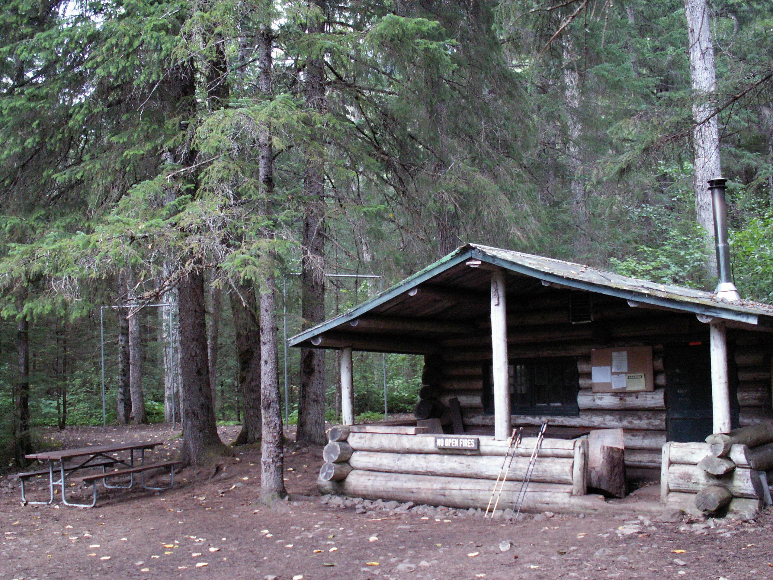 Canyon City shelter and campground.