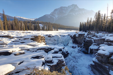 Le parc national Jasper en hiver! © R. Gruys