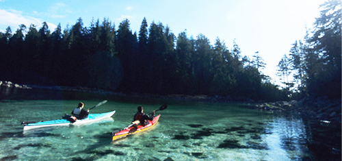 Kayak dans l'archipel Broken Group
