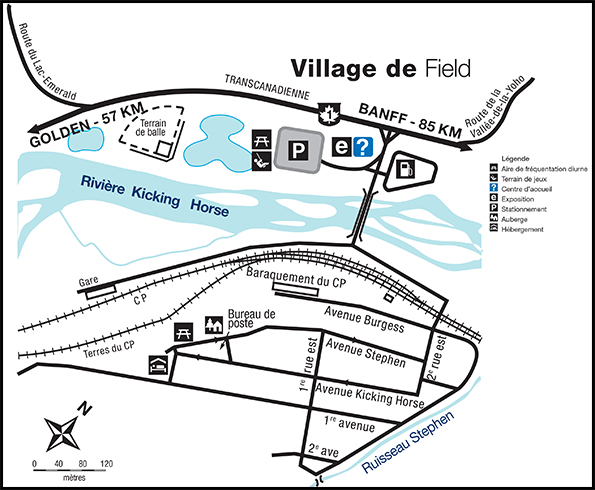Carte du village de Field, C.-B.