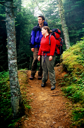 2 hikers in Fundy National Park